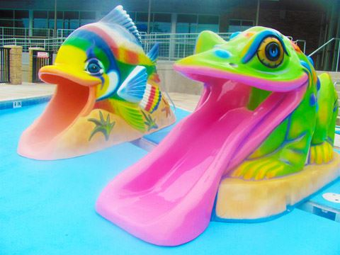 Fish and Frog Slides