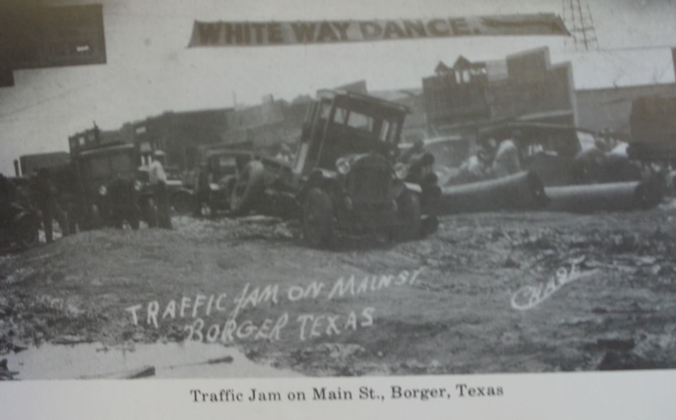 Old Picture of Traffic Jam